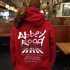 abbey road pub hooded sweatshirt